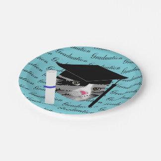 Prato De Papel Gato da graduação