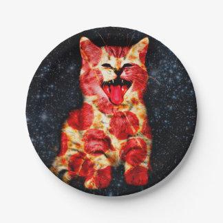 Prato De Papel gato da pizza - gatinho - gatinho