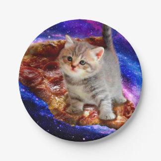 Prato De Papel gato da pizza - gatos bonitos - gatinho - gatinhos