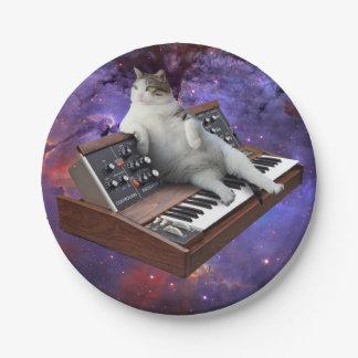 Prato De Papel gato do teclado - memes do gato - gato louco