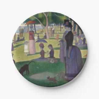 Prato De Papel GEORGE SEURAT - Um 1884 um domingo à tarde