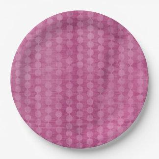 Prato De Papel Grânulo cor-de-rosa