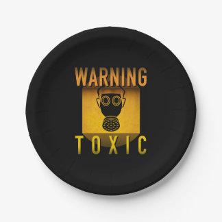 Prato De Papel Grunge retro de advertência tóxico da idade