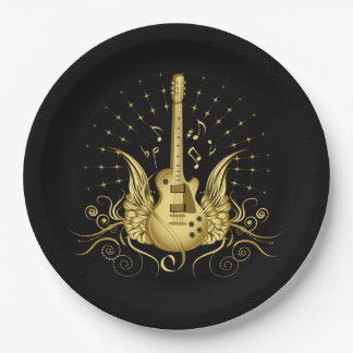 Prato De Papel Guitarra voada ouro