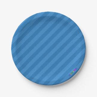 Prato De Papel HAMbWG - bens de papel - logotipo azul de w da