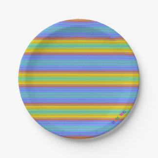 Prato De Papel HAMbWG - bens de papel - logotipo de w da listra