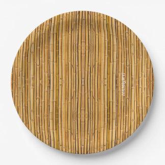 """Prato De Papel HAMbyWG - placa de papel 7 ou 9"""" - imagem de bambu"""