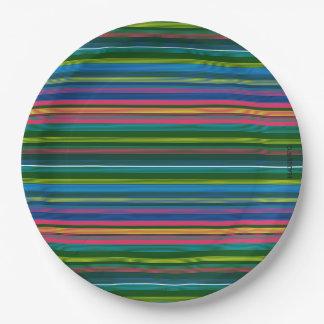 Prato De Papel HAMbyWG - placa de papel - Multi listra da cor