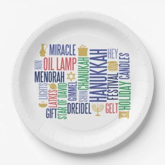 Prato De Papel Hanukkah exprime as placas de papel do feriado