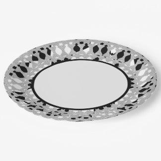 Prato De Papel Harlequin-Silver-Shield_Everyday-Plates