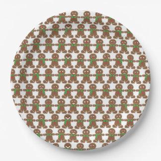 Prato De Papel Homem de pão-de-espécie bonito de Emoji