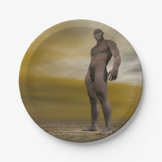 Prato De Papel Homo erectus masculino - 3D rendem