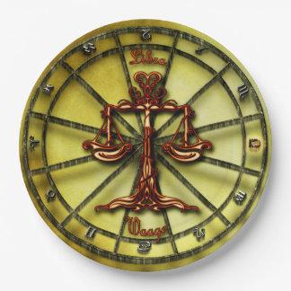 Prato De Papel Horóscopo do design da astrologia do zodíaco do