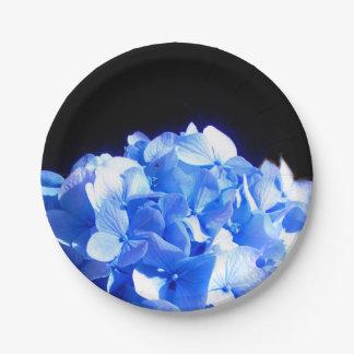 Prato De Papel Hydrangea dos azuis cobaltos