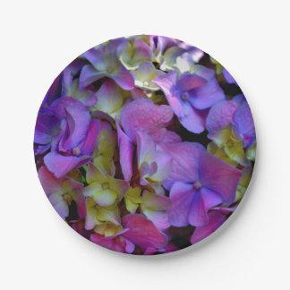Prato De Papel Hydrangeas roxos românticos