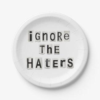 Prato De Papel Ignore os haters.