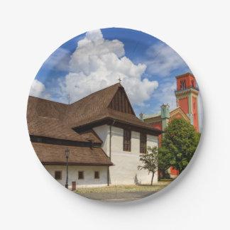 Prato De Papel Igreja articulaa de madeira em Kezmarok, Slovakia