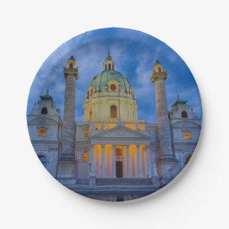 Prato De Papel Igreja do santo Charles, Viena