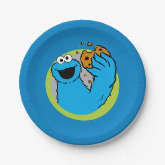 Prato De Papel Imagem do monstro do biscoito