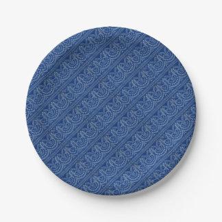 Prato De Papel impressão azul bonito da decoração do Victorian