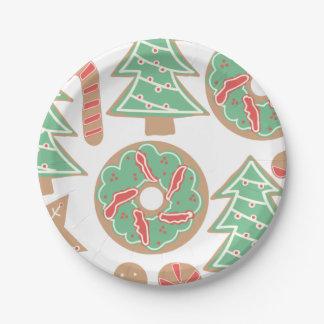 Prato De Papel Impressão do cozimento do Natal
