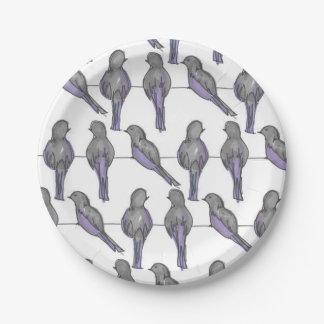 Prato De Papel Impressão dos amigos do pombo