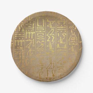 Prato De Papel Impressão egípcio do papel dos Hieroglyphics do
