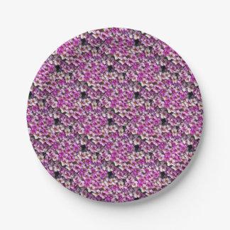 Prato De Papel Impressão floral bonito dos petúnias cor-de-rosa e