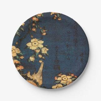 Prato De Papel Impressão tradicional do papel japonês do vintage
