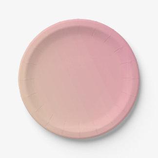 Prato De Papel Inclinação cor-de-rosa Textured