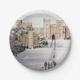 Prato De Papel Inverno no castelo de Windsor