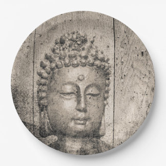 Prato De Papel Ioga de Buddha do vintage