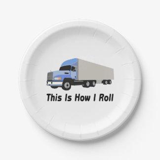 Prato De Papel Isto é como eu rolo semi o caminhão