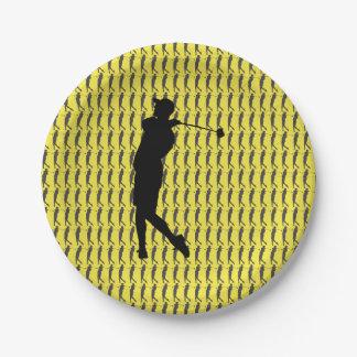 Prato De Papel Jogador de golfe