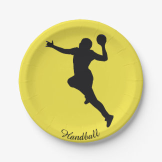 Prato De Papel Jogador do handball