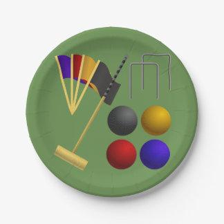 Prato De Papel Jogos das placas de papel do Croquet