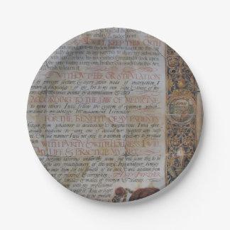 Prato De Papel Juramento de Hippocrates