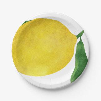 Prato De Papel Limão fresco