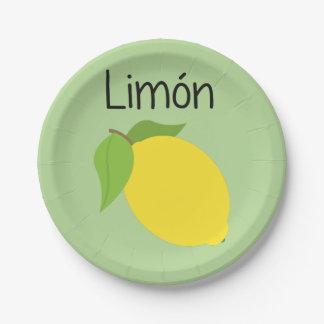 Prato De Papel Limon (limão)
