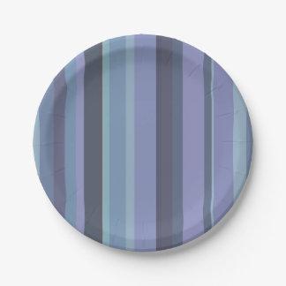 Prato De Papel listras horizontais Azul-cinzentas