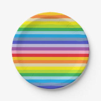 Prato De Papel Listras mais largas de um arco-íris do espectro