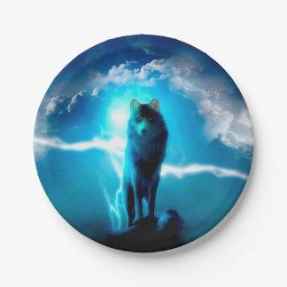 Prato De Papel Lobo da neve - lobos do trovão - lobo selvagem