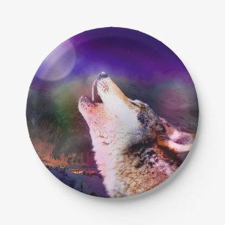 Prato De Papel Lobo de Howlin - lobo da lua - lobo principal