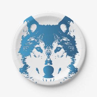 Prato De Papel Lobo do azul de gelo da ilustração