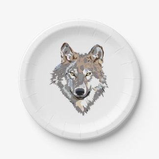 Prato De Papel Lobo principal - ilustração do lobo - lobo