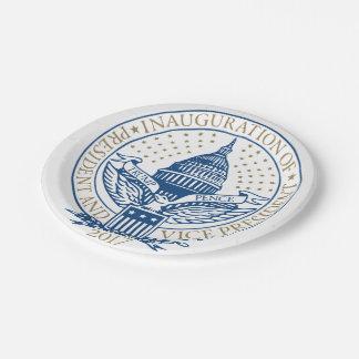 Prato De Papel Logotipo 2017 presidencial das moedas de um