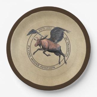 Prato De Papel Logotipo da aviação dos alces do vôo