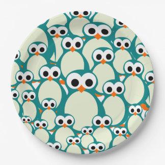 Prato De Papel Lotes dos pinguins