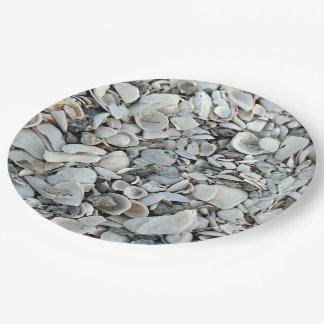 Prato De Papel Lotes e lotes dos Seashells