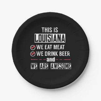 Prato De Papel Louisiana come a cerveja da bebida da carne